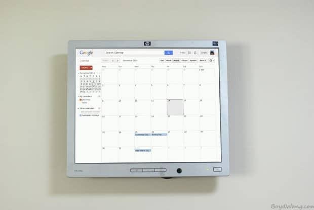 可以挂在墙上的树莓派谷歌日历