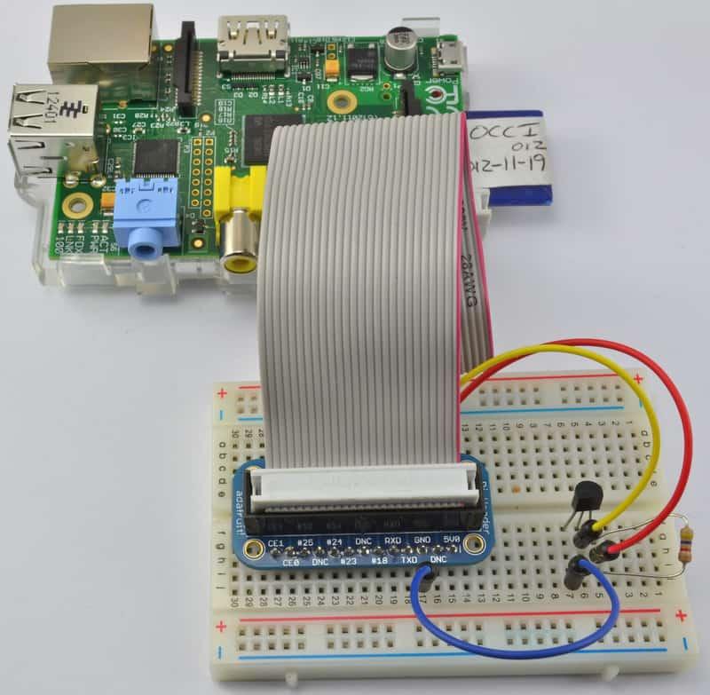 Adafruit的树莓派教程第十一课:DS18B20温度传感器